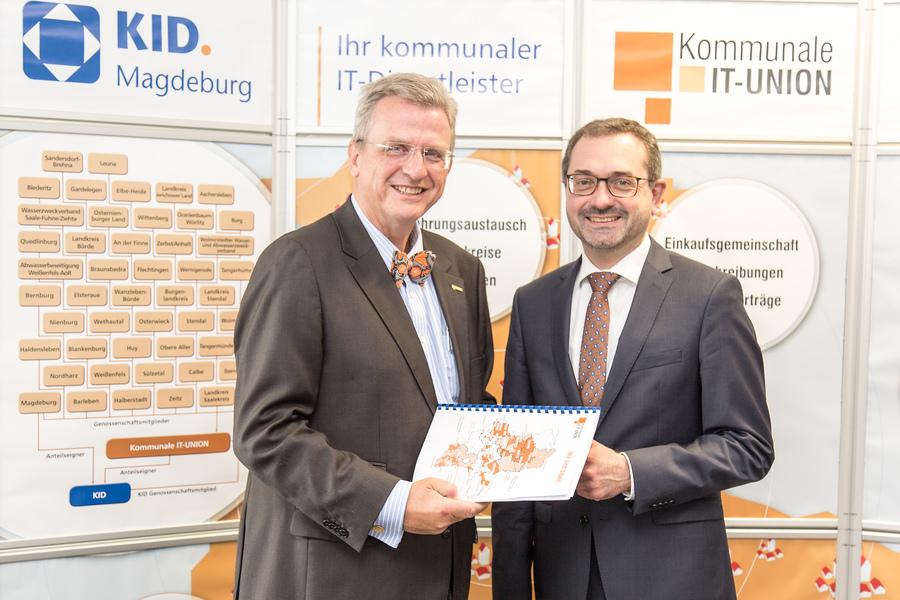 Dr. Ralf Resch zum Antrittsbesuch bei KID/KITU